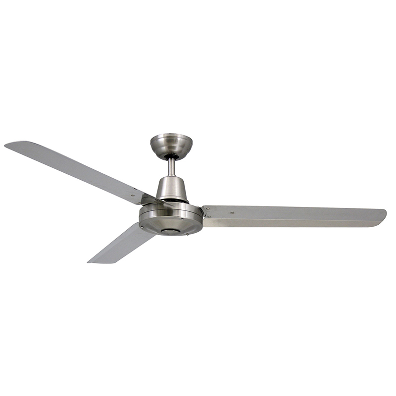 Vortex 3 52 316 stainless steel ceiling fan ic lighting - Commercial grade bathroom exhaust fans ...