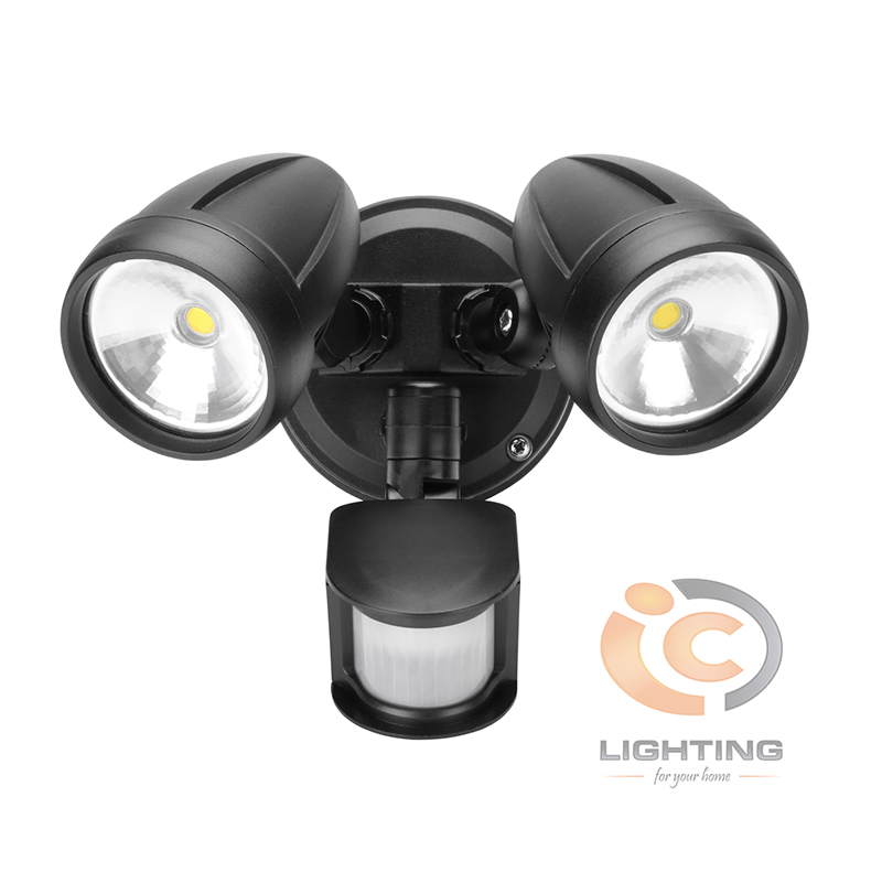 Domus Muro LED Twin Sensor Black