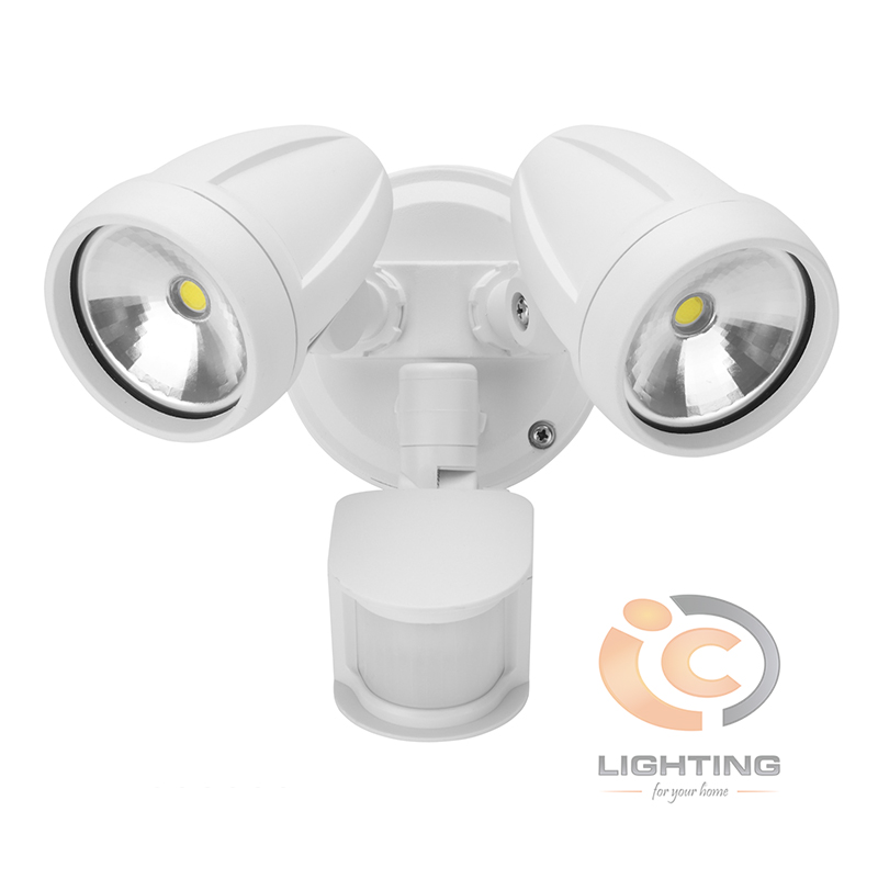 Domus Muro LED Twin Sensor White