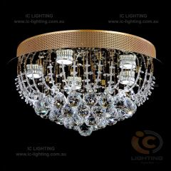 Lampada-Accuto Gold Light Crystal Pendant