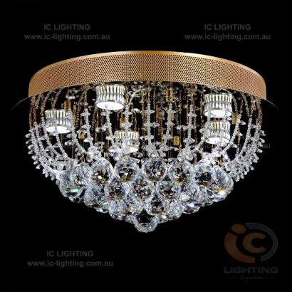 Lampada-Accuto Gold Light Crystal Pendant
