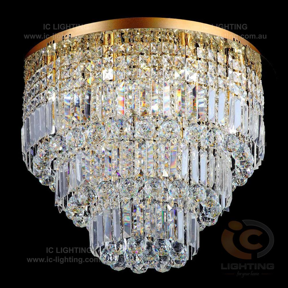 Lampada Belezia Gold 13 Light Led Premium Crystal Ctc Ic Lighting