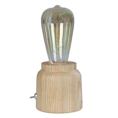 CLA Lighting Tesla 2 Blonde Wood Table Lamp