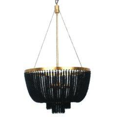 MDA Lighting Maddisson Classical Black Gold Beaded Pendant