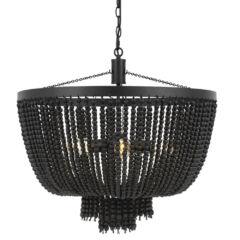 MDA Lighting Maddisson Classical Black Beaded Pendant