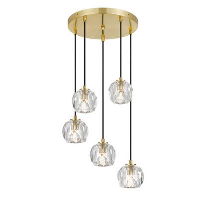 Telbix Zaha 5 Light Crystal Pendant