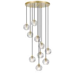 Telbix Zaha 10 Light Crystal Pendant